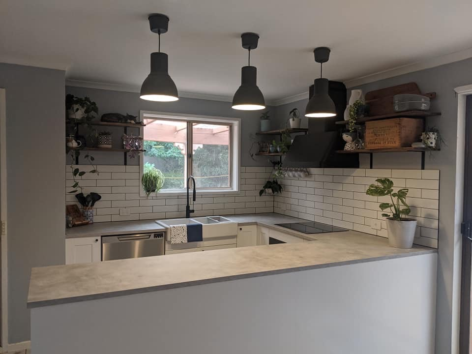 Flat pack kitchen installed by Flat Pack Builders