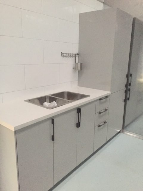 Flat packed laundry installed by Flat Pack Builders