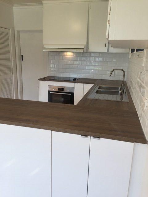 benchtops of flat pack kitchen installation