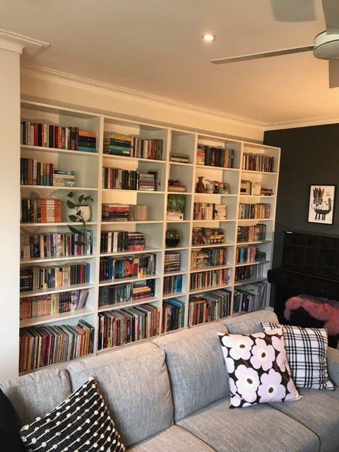 Bookshelves installation by Flat Pack Builders