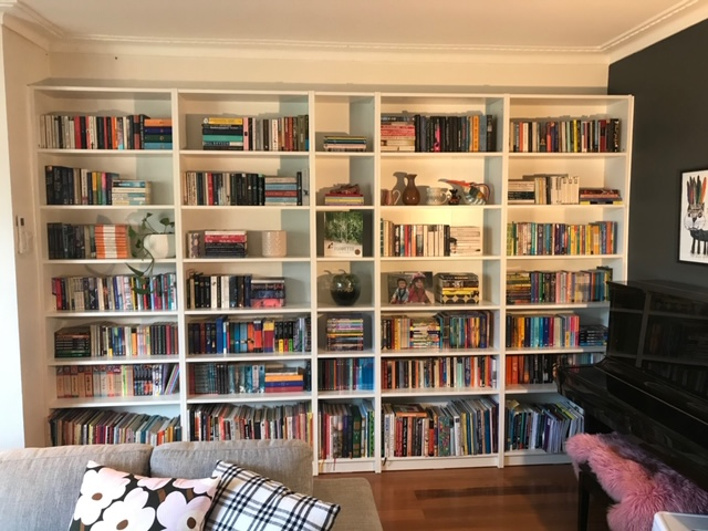 Bookshelves installation by Flat Pack Builders front on