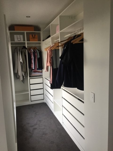 Walk In Robe installation by Flat Pack Builders