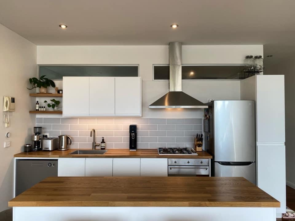 installed flat pack kitchen by Flat Pack Builders